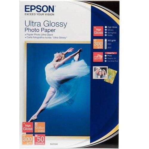 Epson S041943 White 4 x 6 inch Specialty Paper title=