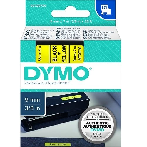 DYMO S0720730 Black on Yellow (Genuine)
