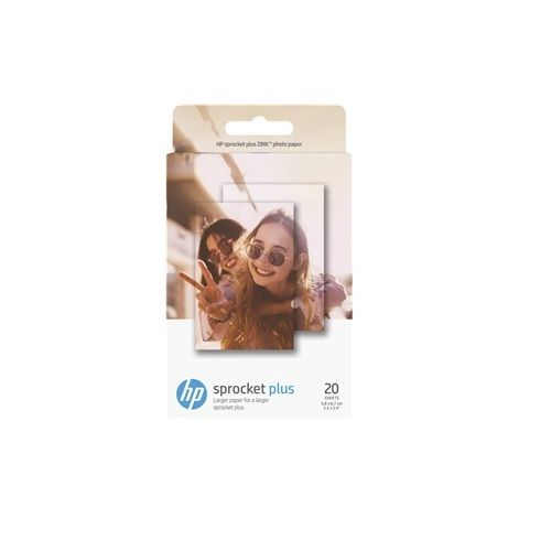 HP Sprocket Plus 20 White 2.3 x 3.4 inch Photo Paper (2LY73A) title=