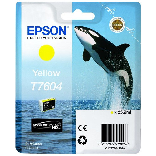 Epson T7604 Yellow (Genuine) title=