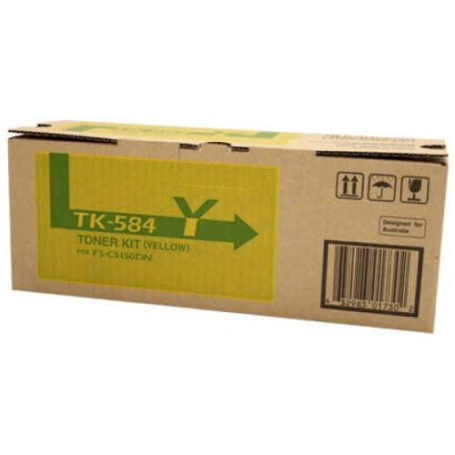 Kyocera TK-584Y Yellow (Genuine) title=