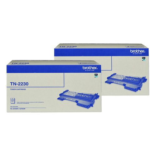 Brother TN-2230 2 Pack Bundle (Genuine) title=