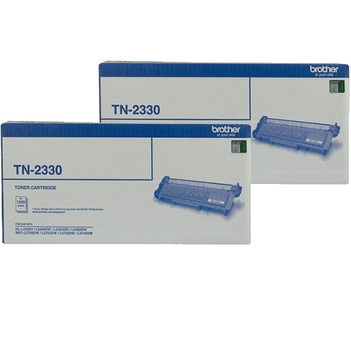Brother TN-2330 2 Pack Bundle (Genuine) title=