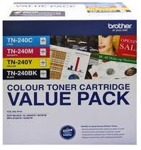 Brother 4-Pack TN-240 Value Pack Toner Cartridge Genuine