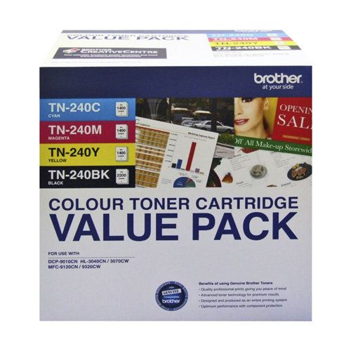 Brother TN-240 4 Pack Bundle (Genuine) title=
