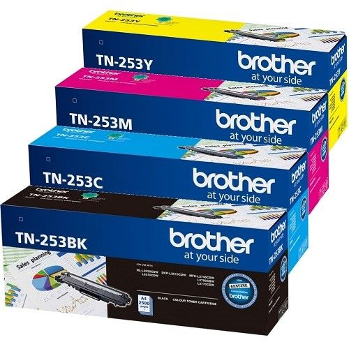 Brother TN-253 4 Pack Bundle (Genuine) title=