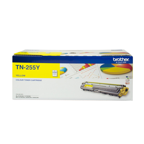 Brother TN-255Y Yellow High Yield (Genuine) title=