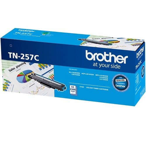 Brother TN-257C Cyan High Yield (Genuine) title=