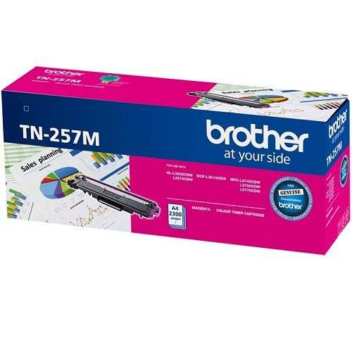 Brother TN-257M Magenta High Yield (Genuine) title=