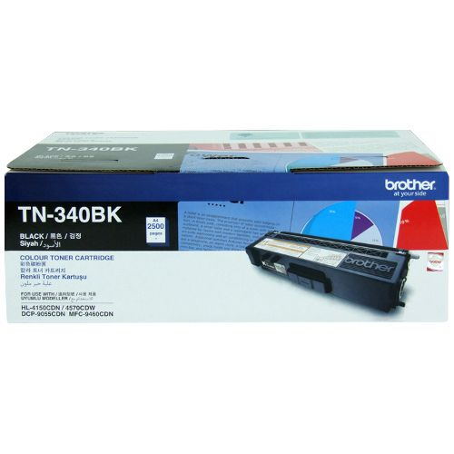 Brother TN-340BK Black (Genuine) title=