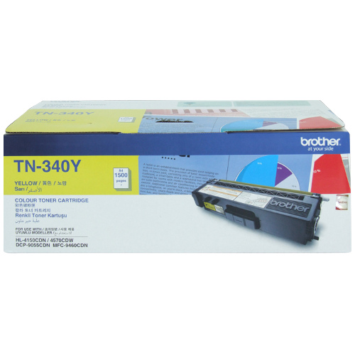 Brother TN-340Y Yellow (Genuine) title=