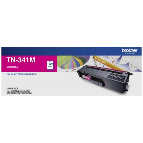 Brother TN-341M Magenta (Genuine) title=