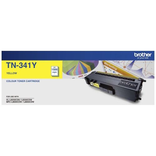 Brother TN-341Y Yellow (Genuine) title=