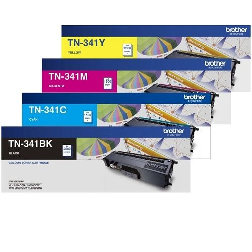 Brother TN-341 8 Pack Bundle (Genuine) title=