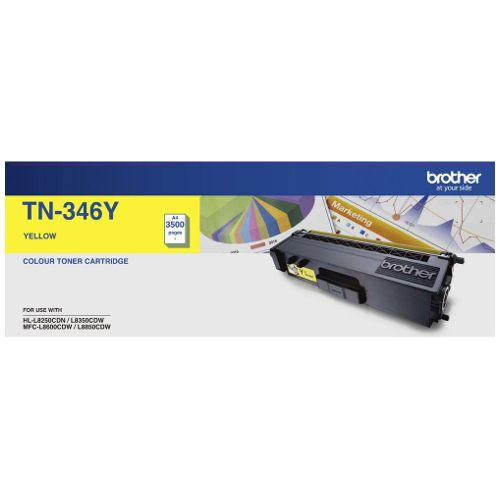 Brother TN-346Y Yellow High Yield (Genuine) title=