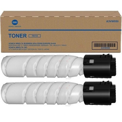 Konica Minolta TN118 2 Pack Value Pack (A3VW090) (Genuine) title=