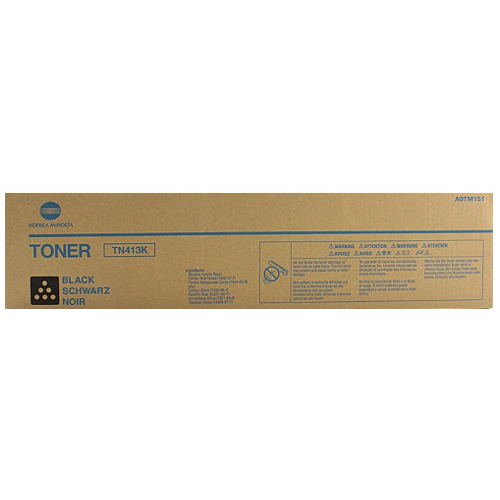 Konica Minolta TN413K Black Toner Cartridge (A0TM151) Genuine