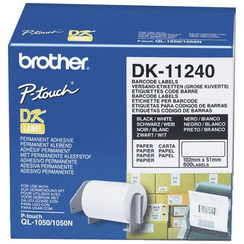 Brother DK-11241 Black on White (Genuine) title=