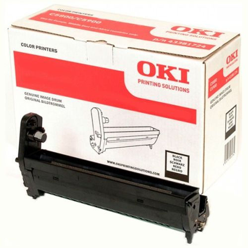 Oki 43381728 Black Drum Unit title=