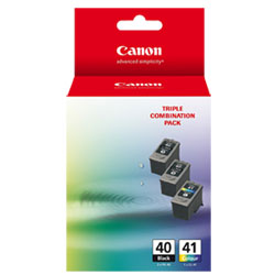 Canon 3-Pack PG-40/CL-41 Value Pack Ink Cartridge Genuine