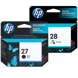 HP 27, 28 Ink Cartridges