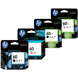 HP 60, 60XL Ink Cartridges