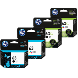 HP 63, 63XL Ink Cartridges