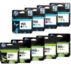 HP 905, 905XL, 909XL Ink Cartridges