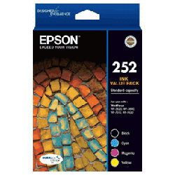 Epson 252 4 Pack Bundle (Genuine)