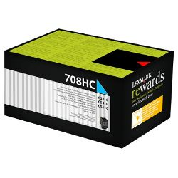 Lexmark 708H Cyan High Yield Prebate (70C8HC0) (Genuine)