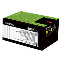 Lexmark 808 Black Prebate (80C80K0) (Genuine)