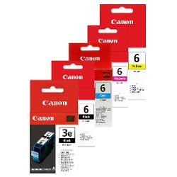 Canon BCI-3e/BCI-6 5 Pack Bundle (Genuine)