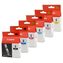 Canon BCI-6 6 Pack Bundle (Genuine)
