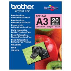Brother BP71GA3 A3 Premium Plus Glossy Photo Paper