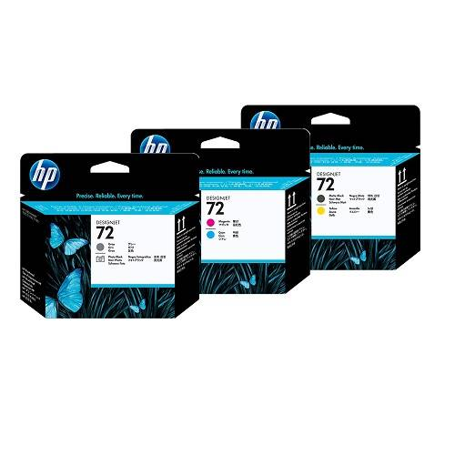 HP 72 3 Pack Bundle Print Heads (C9380/3/4A)