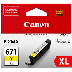 Canon CLI-671XLY Yellow High Yield (Genuine)