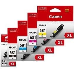 Canon PGI-680XLBK/CLI-681XL 5 Pack Bundle (Genuine)