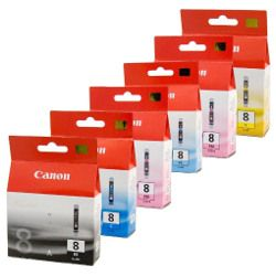 Canon CLI-8 6 Pack Bundle (Genuine)