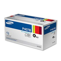 Samsung CLT-P407B 2 Pack Bundle (Genuine)