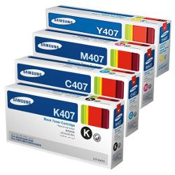 Samsung CLT-#407S 8 Pack Bundle (Genuine)