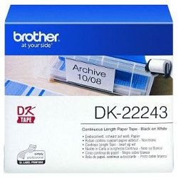 Brother DK-22243 Black on White (Genuine)