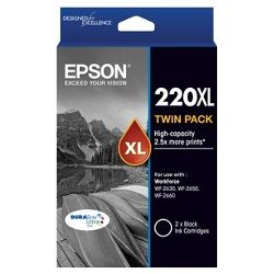 Epson 220XL 2 Pack Bundle (Genuine)
