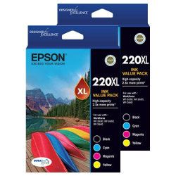Epson 220XL 8 Pack Bundle (Genuine)