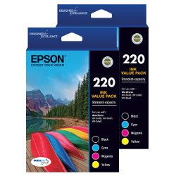 Epson 220 8 Pack Bundle (Genuine)