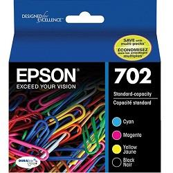 Epson 702 4 Pack Bundle (Genuine)