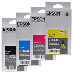 Epson 711XXL (C13T675192-492) 4 Pack Bundle (Genuine)