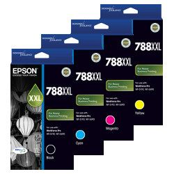 Epson 788XXL (C13T788#92) 4 Pack Bundle (Genuine)