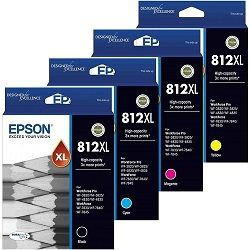 Epson 812XL 4 Pack Bundle (Genuine)