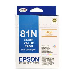 Epson 81N 6 Pack Bundle (Genuine)