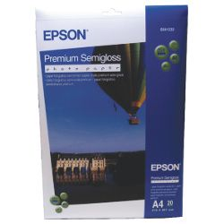 Epson S041332 A4 Premium Semi Gloss Photo Paper